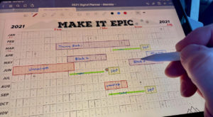 2021 Wall Training Calendar For Athletes